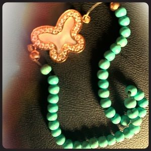 Handmade Beaded Bracelet•GP/Sterling S. Butterfly